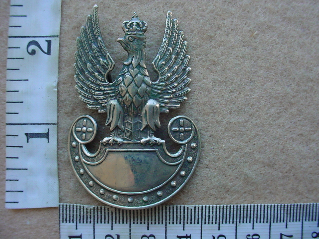 8665 Polish Army cap badge, Paratroopers and Commandos, WW2 (Army Poland)